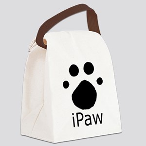 ipaw black copy Canvas Lunch Bag