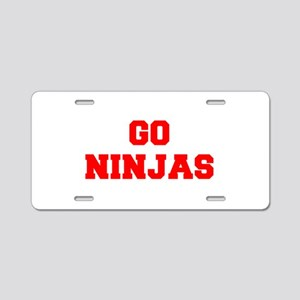 NINJAS-Fre red Aluminum License Plate