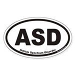 Autism Spectrum Disorder ASD Euro Oval Sticker