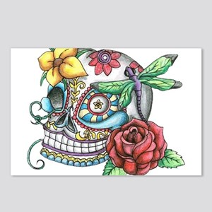 Sugar Skull 069 Postcards (Package of 8)