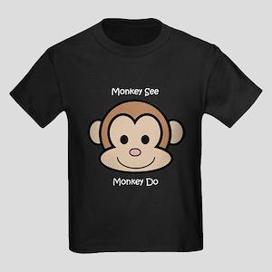 Monkey See Monkey Do Kids Dark T-Shirt