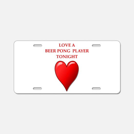 beer pong Aluminum License Plate