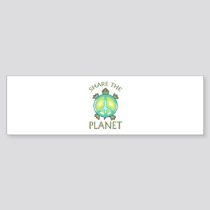 SHARE THE PLANET Bumper Sticker
