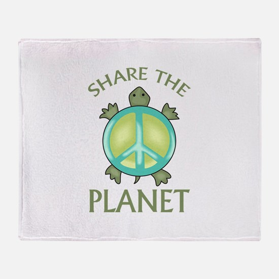 SHARE THE PLANET Throw Blanket
