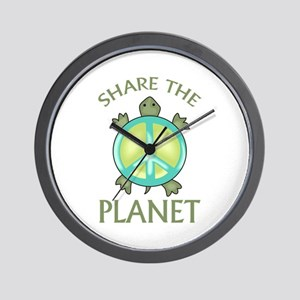 SHARE THE PLANET Wall Clock