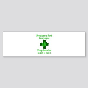 HERB TO CURE IT Bumper Sticker