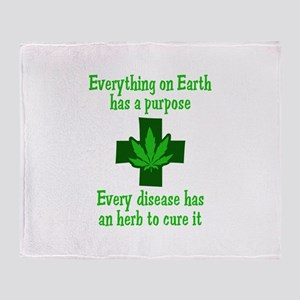 HERB TO CURE IT Throw Blanket