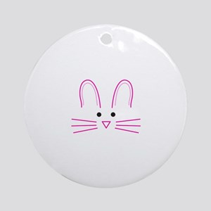 EASTER BUNNY FACE Ornament (Round)