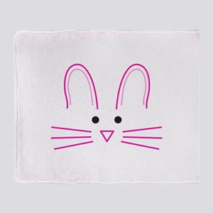 EASTER BUNNY FACE Throw Blanket