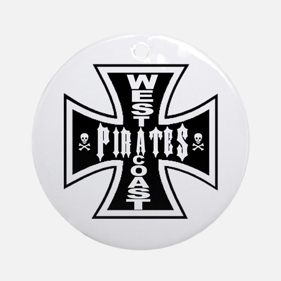 West Cooast PIRATES Ornament (Round)