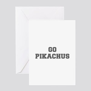 PIKACHUS-Fre gray Greeting Cards
