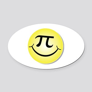 Smiley Pi Day Face Oval Car Magnet
