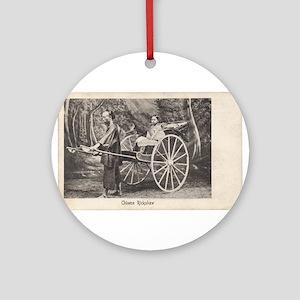 Vintage Chinese Rickshaw Photo Postcard 1905 Ornam
