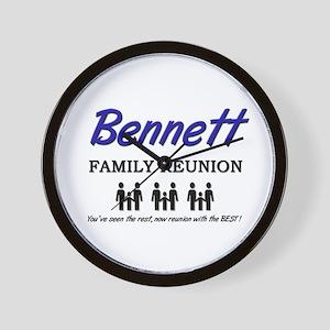 Bennett Family Reunion Wall Clock