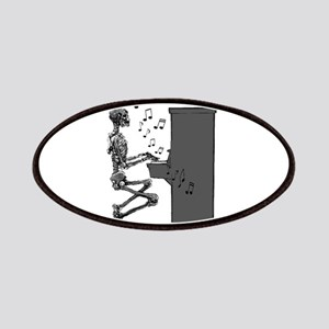Skeleton Playing Piano Funny Musical Art Patch