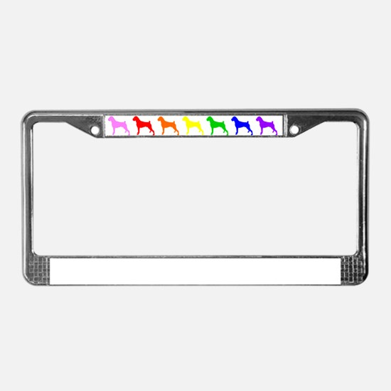 Rainbow Colored Boxers License Plate Frame