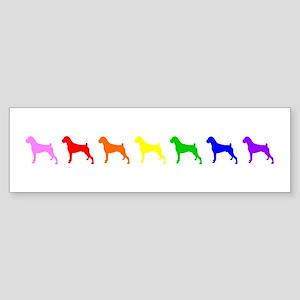 Rainbow Colored Boxers Bumper Sticker