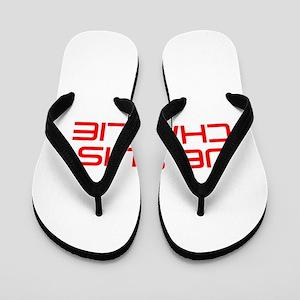 Je suis Charlie-Sav red Flip Flops
