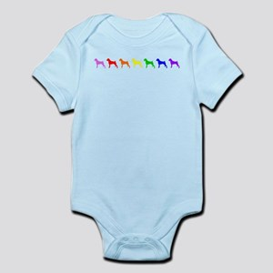 Rainbow Colored Boxers Body Suit