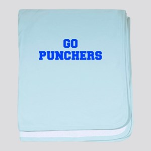 Punchers-Fre blue baby blanket