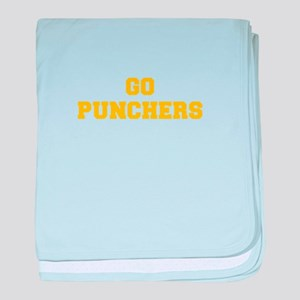 Punchers-Fre yellow gold baby blanket