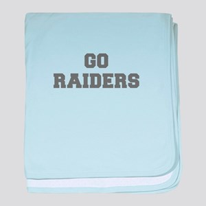 RAIDERS-Fre gray baby blanket
