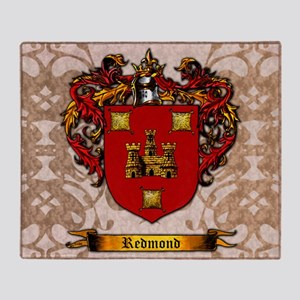 Redmond Surname Shield Of Arms Throw Blanket