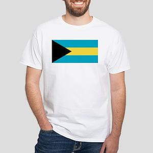Bahamas Flag White T-Shirt
