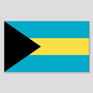 Bahamas Flag Sticker (Rectangle)