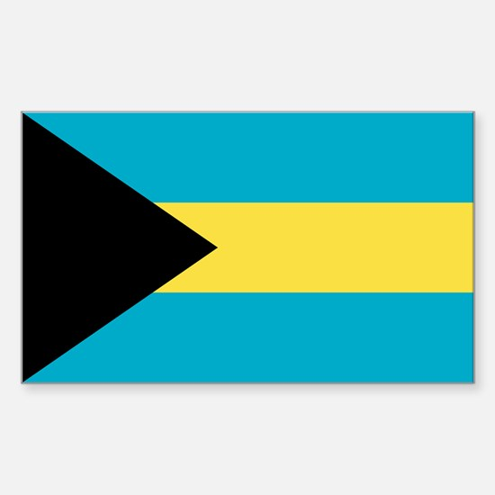 Bahamas Flag Sticker (Rectangle)