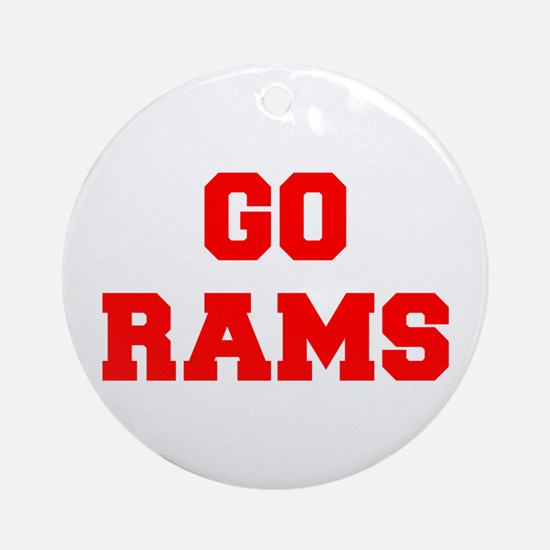 RAMS-Fre red Ornament (Round)