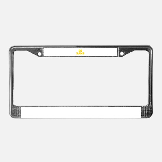 Rams-Fre yellow gold License Plate Frame