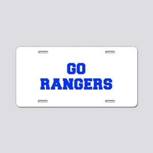 Rangers-Fre blue Aluminum License Plate