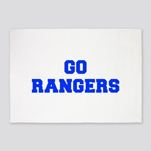 Rangers-Fre blue 5'x7'Area Rug