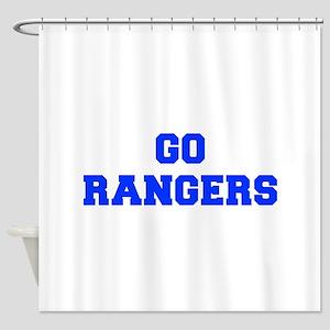 Rangers-Fre blue Shower Curtain