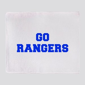 Rangers-Fre blue Throw Blanket