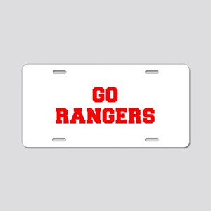 RANGERS-Fre red Aluminum License Plate
