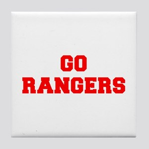RANGERS-Fre red Tile Coaster