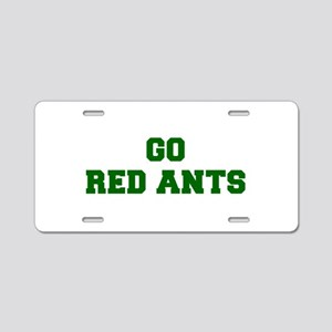 Red Ants-Fre dgreen Aluminum License Plate