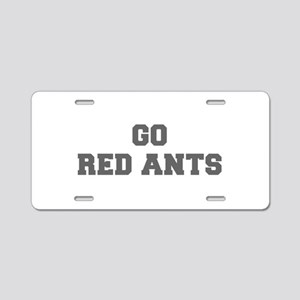 RED ANTS-Fre gray Aluminum License Plate