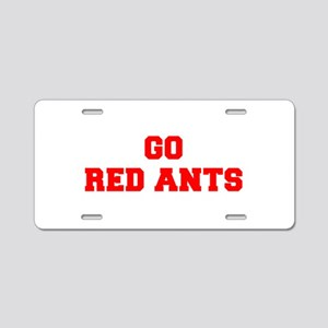 RED ANTS-Fre red Aluminum License Plate