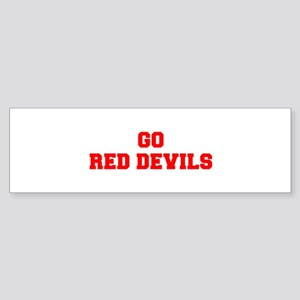 RED DEVILS-Fre red Bumper Sticker