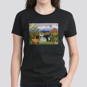French Bulldog Picnic Women's Dark T-Shirt