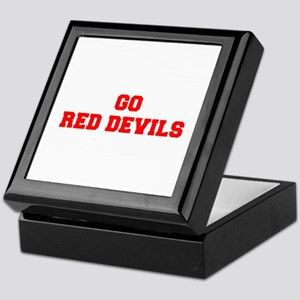 RED DEVILS-Fre red Keepsake Box