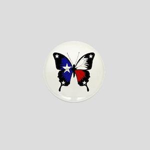 Texas Butterfly Mini Button