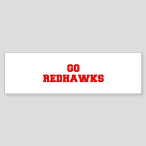 REDHAWKS-Fre red Bumper Sticker