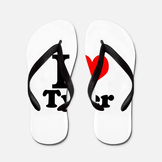 I Love Tyler Flip Flops