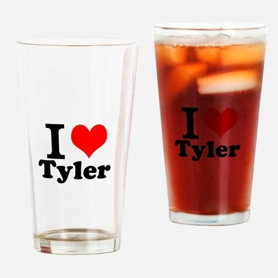 I Love Tyler Drinking Glass