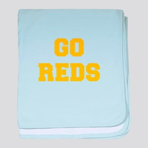 Reds-Fre yellow gold baby blanket