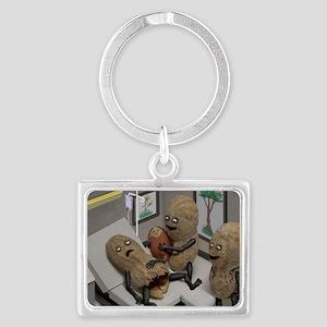 Funny Peanut  Landscape Keychain